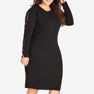 Black stud love dress